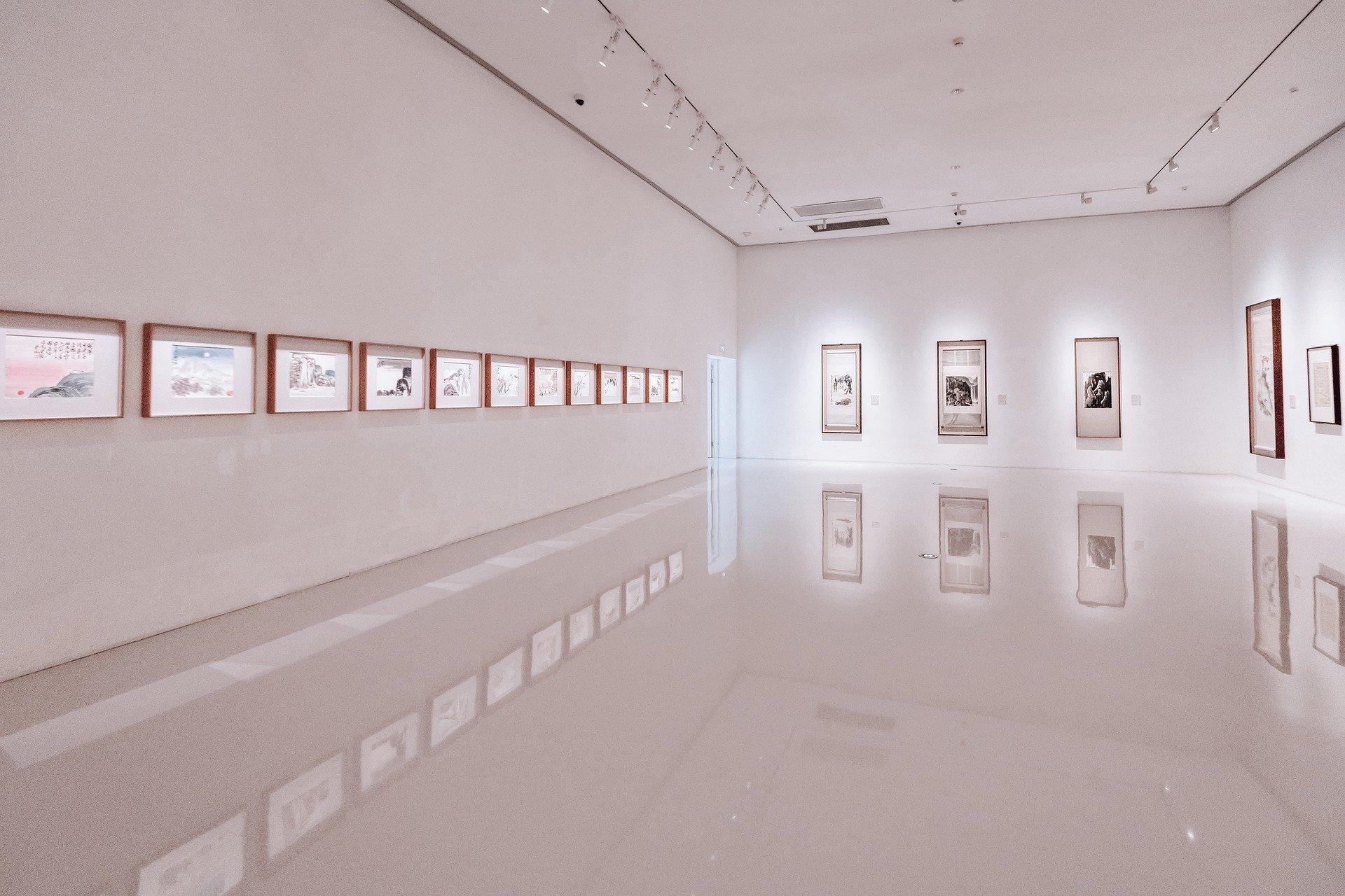 Ausstellungsfläche in einem Gedächtnispalast für Prüfungen